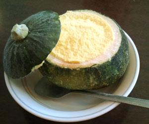写真:かぼちゃのアイス (1枚目)