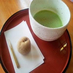 写真:熊野もうで餅 抹茶付