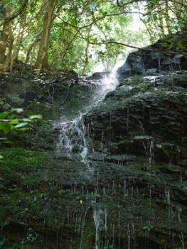 写真:富田坂の「祝(しゅく)の滝」