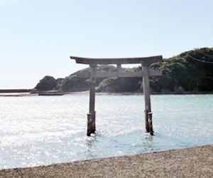 写真:海の中に建つ大鳥居! (3枚目)