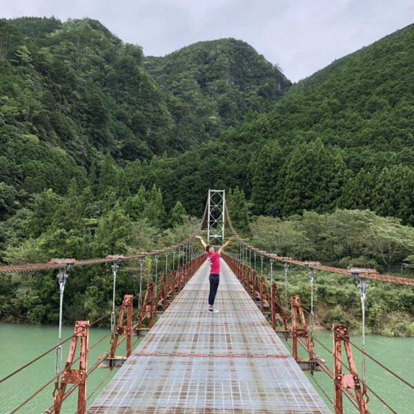 写真:北山村のつり橋