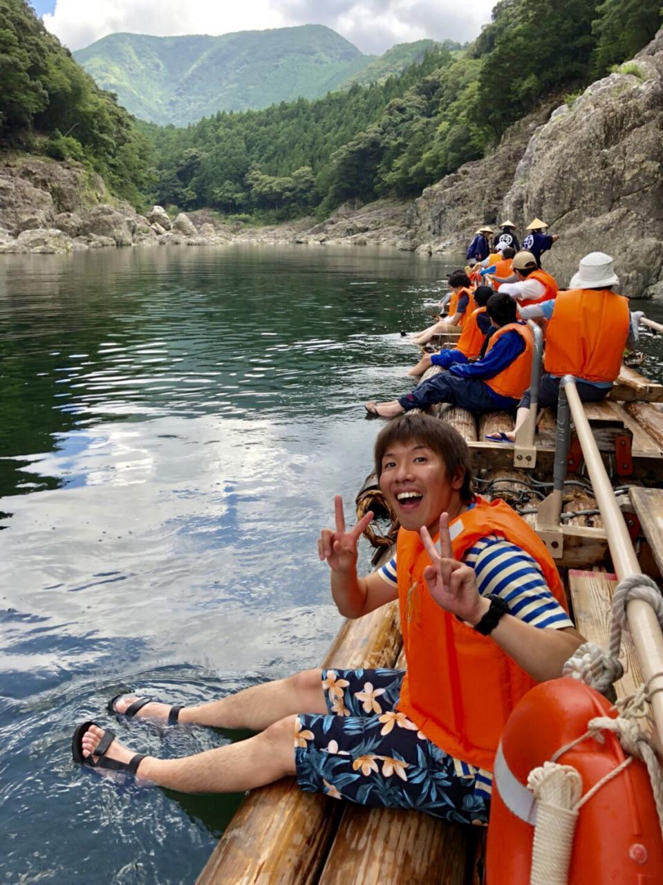 写真:北山村の筏くだり