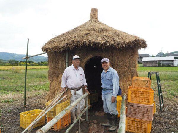写真:山東地区のわらの小屋