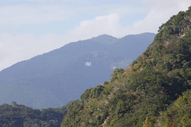 写真:妙法山の卍マーク(2枚目)