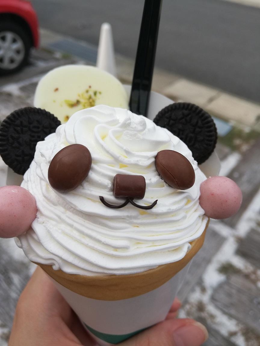 写真:可愛すぎるパンダクレープ(1枚目)