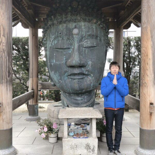 写真:無量光寺の首大仏(むりょうこうじのおぼとけ)