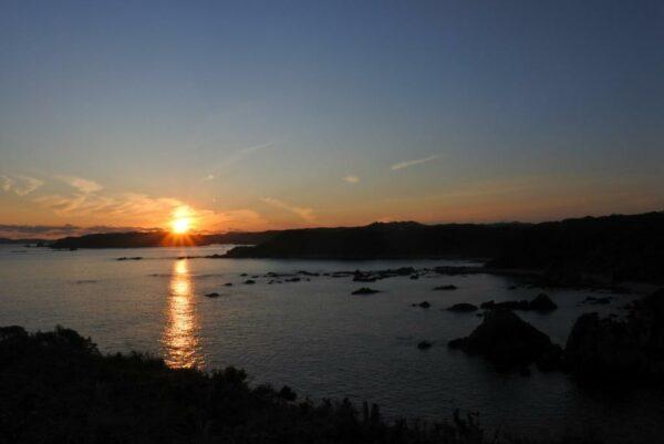 写真:平見台園地展望台の夕焼け