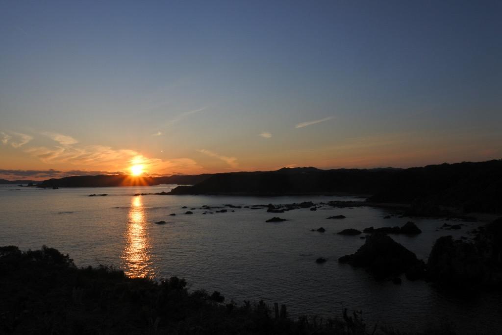 写真:平見台園地展望台の夕焼け(1枚目)