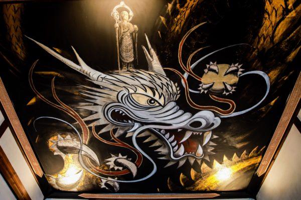 写真:九度山町椎出・地蔵寺の「地蔵昇龍」