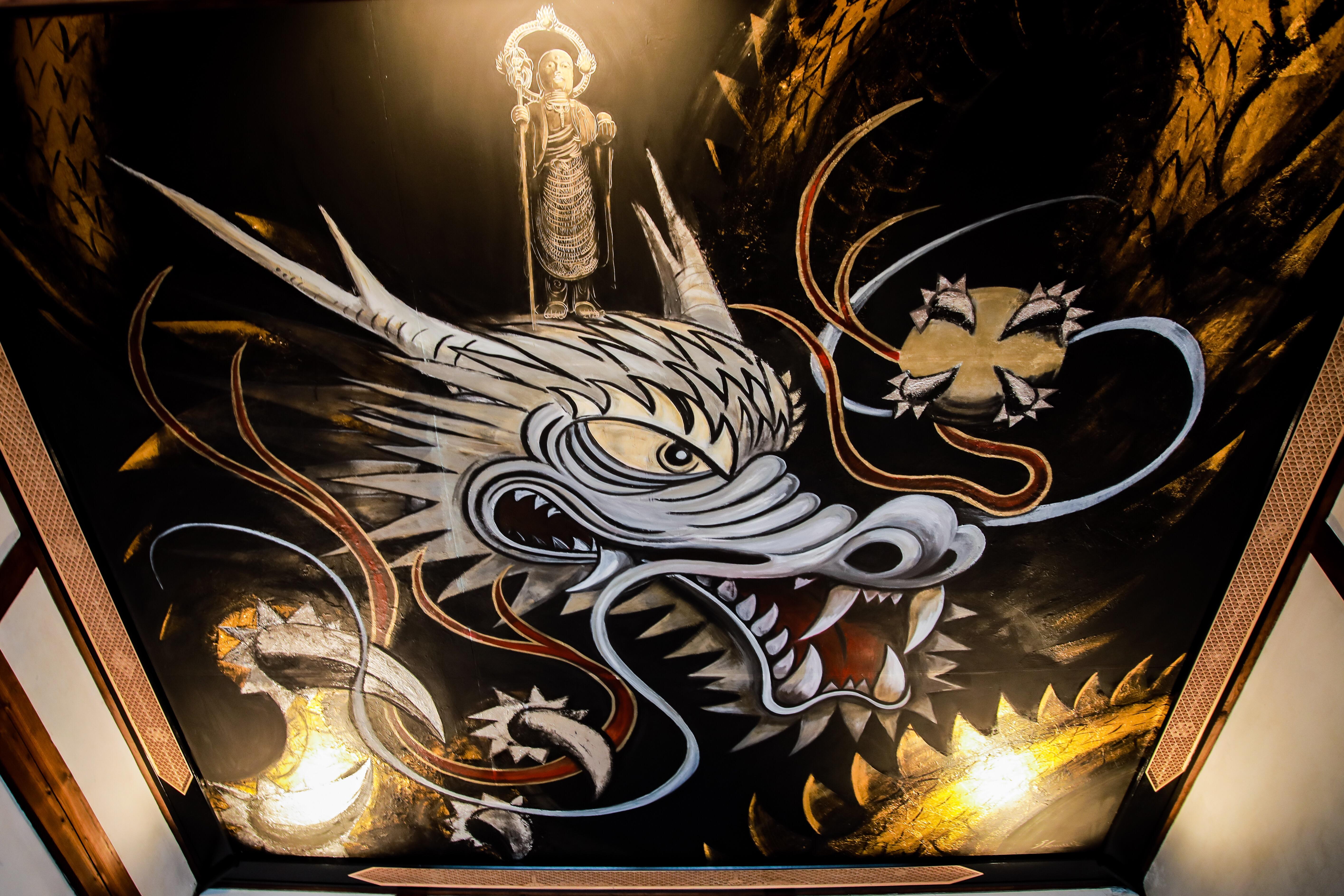 写真:九度山町椎出・地蔵寺の「地蔵昇龍」(1枚目)